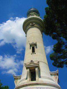 Faro al Gianicolo (the lighthouse on Gianicolo Hill) in Rome  http://www.travelandtransitions.com/our-travel-blog/rome-frascati-orvieto-2010/