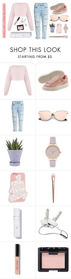 """""""lilac skys and blushing clouds."""" by quiescentsoul ❤ liked on Polyvore featuring H&M, Chive, Olivia Burton, ban.do, Eve Lom, Georg Jensen, Bobbi Brown Cosmetics and NARS Cosmetics"""