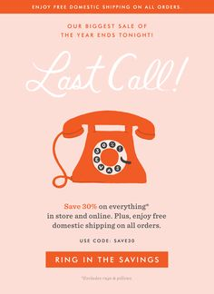 Rifle Paper Co.: Last Call: Off Everything Ends Tonight! E-mail Design, Layout Design, Media Design, Flat Design, Design Ideas, Graphic Design, Email Template Design, Email Newsletter Design, Email Marketing Design