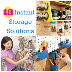 13 Instant Storage Solutions: clever places to store your stuff all over the house!