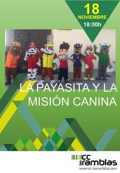 """Viernes 18 a las 18:00 h. """"La payasita y la misión canina"""""""