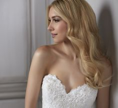 Adelia Hand-Bead A-Line Platinum Wedding Gown In Ivory Ivory Silver