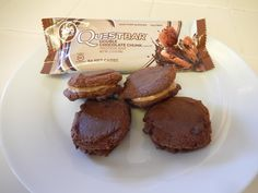 Eggface Healthy Snacks: Chocolate Peanut Butter Protein Cookie Sandwiches