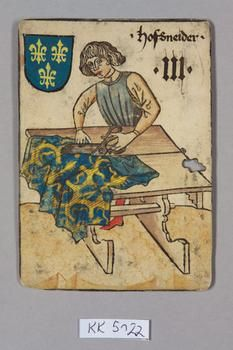 Playing card with a Tailor, 1455
