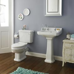 Premier Carlton Traditional Bathroom Suite - Basin one to go with best price get bundle package Grey Bathroom Paint, Bathroom Wall Colors, Grey Bathrooms, Bathroom Sets, Narrow Bathroom, Neutral Bathroom, Attic Bathroom, Boho Bathroom, Family Bathroom
