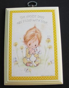 "Items similar to Betsey Clark Plaque ""Thank You Lord, For Friends Held Dear"" Springbok for Hallmark Cards Inc. on Etsy"