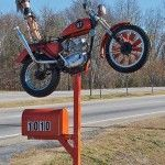MOTORCYCLE MAIL BOX By NC Cigany On Flickr With Creative Design And Orange Color
