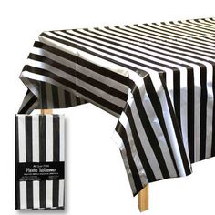 Black And White Plastic Tablecloth $10.99 Part 77