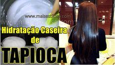 hidratação de tapioca como fazer Diy Hairstyles, Straight Hairstyles, Hair And Nails, Curly Hair Styles, Shampoo, Moisturizer, Hair Care, Hair Beauty, Chocolate