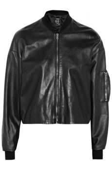 McQ Alexander McQueen Leather bomber jacket | THE OUTNET