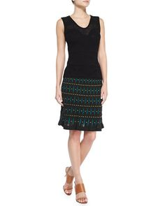 M. Missoni Lily Jacquard Tank Top and Helix Printed Knit Skirt