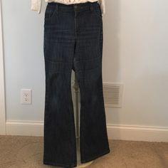 Merona Dark Wash Jeans Stretch fabric. Stretch-comfort, no-gap waist. Dark wash, boot cut. Great condition, so comfortable! Look great on!  Merona Jeans Boot Cut