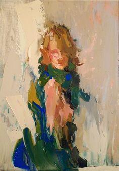 Wrapped in Manganese, painting by artist Sally Cummings Shisler