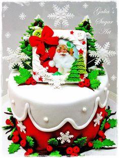 Galia's Sugar Art: Малка Коледна тортичка...Small Christmas Cakes