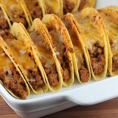 Baked tacos. Good for feeding a group