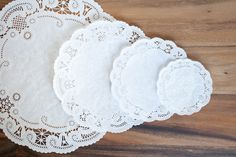 Sweet little paper doilies, for festive food decor or unique gift wrapping. Approx. 50 doilies per pack.
