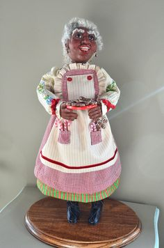 This listing is for a Custom Handmade Santa Figure to your specifications. This sample of a Black Mrs Claus was done for a client and is not available for sale, she shows just one example of the many ideas that can be created for you as a completely One Of a Kind piece of Art. Pricing is by quote and depends on size as well as the various details of the Custom work being done. Please convo me to inquire about a Custom Piece.  All of my Santa Figures are completely Hand Crafted using the…