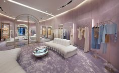 La Perla is celebrating an important step in its retail consolidation strategy: the Boutique in the Dubai Mall will become. Boutique Interior Design, Decor Interior Design, Interior Decorating, Lingerie Store Design, Retail Store Design, Retail Stores, Store Interiors, Mansions Homes, Closet Designs