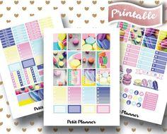 Macaroon Stickers // Dessert Stickers // Paris Stickers // Pastel Stickers // Treat Stickers // Erin Condren Life Planner // Printable Stickers // Erin Condren Life Planner // Monthly set // Planner Stickers // Stickers By Petit Planner on Etsy