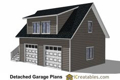 24x28 Garage Plans With Apartment Right   536 Square Feet