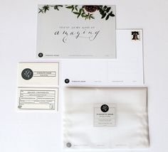 Modern Black and White Business Cards and Hand Lettered Promotional Cards Kelsey Cronkhite5 550x500 Kelseys Modern Hand Lettered Black + Whi...