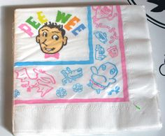 nos Vintage 1980's PEE WEE HERMAN Party Napkins by SQUARESVILLEUSA, $6.50