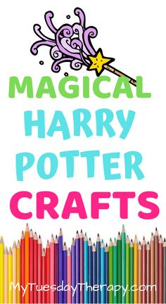 These craft ideas are great as Harry Potter party activity or do them on a rainy day with your favorite Potterhead.