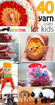 40 yarn crafts for kids