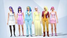 Mod The Sims - My little Pony Mane 6