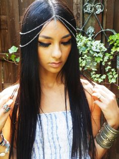 DIY Gypsy Head Chain  www.NoelleSalon.com