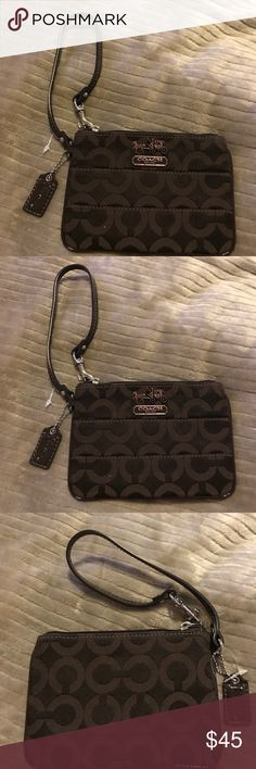 Brown wristlet by Coach Coach wristlet.  Brown.  Brand new.  Authentic. Coach Bags Clutches & Wristlets