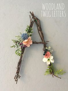 Woodland Nursery Letter Twig Letter Twig Monogram Rustic Wall Letter Rustic Letter Baby Girl Nursery Woodland Nursery Fairy Decor Rustic Home Decor Baby Decor Fairy girl Letter Monogram Nursery Rustic Twig Wall Woodland Rustic Wall Letters, Letter Wall, Letter Monogram, Diy Letters, Letter Wreath, Flower Letters, Decorative Letters For Wall, Wall Letters Decor, Decorating Letters