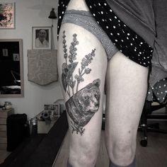 "2,075 Likes, 41 Comments - otto d'ambra (@otto_dambra) on Instagram: ""Lavender's bear @thewhiteelephantstudio #otto #ottodambra #tattoolondon #tattooart #etching…"""