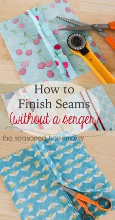Seam Finishes without a Serger by The Seasoned Homemaker