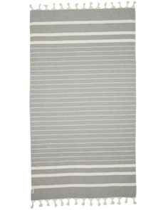 80% Cotton / 20% Bamboo blend Charcoal on white stripe