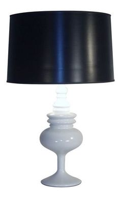 Gloss White Table Lamp -- great for a modern minimalistic living room, or as a contrast to bold patterns. | cort.com
