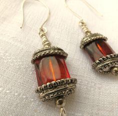 Silver Topaz Dangle Earrings Womens Jewelry Large by JewelActs
