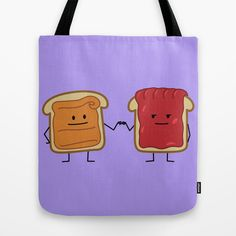 Peanut Butter and Jelly Fist Bump Tote Bag