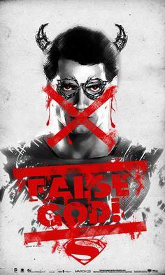 Batman v Superman Poster - False God by SaintAldebaran on DeviantArt