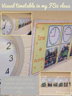 Visual timetable in my class - showing real times, not just order Ks1 Classroom, Classroom Behavior, Classroom Environment, Classroom Setup, Classroom Design, Classroom Displays, Teaching Displays, Class Displays, School Displays