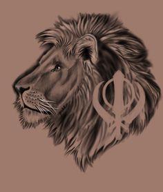Khanda Lion Tattoo