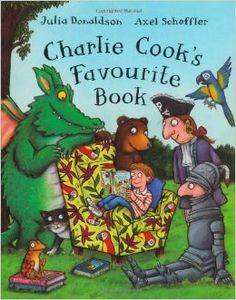 Rs. 200. Charlie Cook's Favourite Book - Julia Donaldson & Axel Sheffler, 32 Pages, Paperback, Macmillan. Charlie Cook is reading a book about a pirate captain, who is reading a book about Goldilocks, who is reading about a knight, who is reading about a frog . . . From kings and queens to aliens and ghosts, there's something for everyone in Charlie's amazing book!