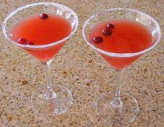 Cranberry Margaritas: granulated sugar, ice, tequila, orange juice, triple sec, cranberry juice, cranberries