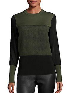 Rag & Bone Marissa Merino Wool-Blend Sweatshirt