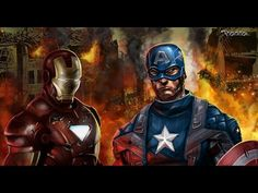 Captain America Vs Ironman Civil War :Superheroes Fight | Cartoons For C...
