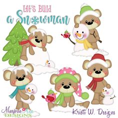 Payton's Winter Friends SVG-MTC-PNG plus JPG Cut Out Sheet(s) Our sets also include clipart in these formats: PNG & JPG