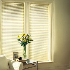 """Bali Essentials 1"""" Lightblocker Vinyl Blinds Room Settings -- I'm hoping these will block the sun coming in and keep my rooms cooler"""