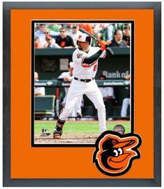 Nick Markakis 2014 Baltimore Orioles - 11 x 14 Team Logo Matted/Framed Photo