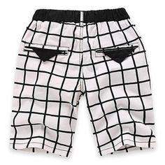 Fashionable Elastic Waist Pocket Design Plaid Shorts For Boy #jewelry, #women, #men, #hats, #watches