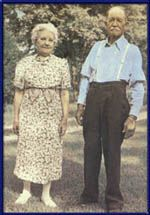 """In 1942 """"The Scribbler's Club"""" of Topeka, KS visited Laura at her Rocky Ridge Farm home. One of the members of that club took this picture, had it enlarged, and sent it to Laura and Almanzo."""